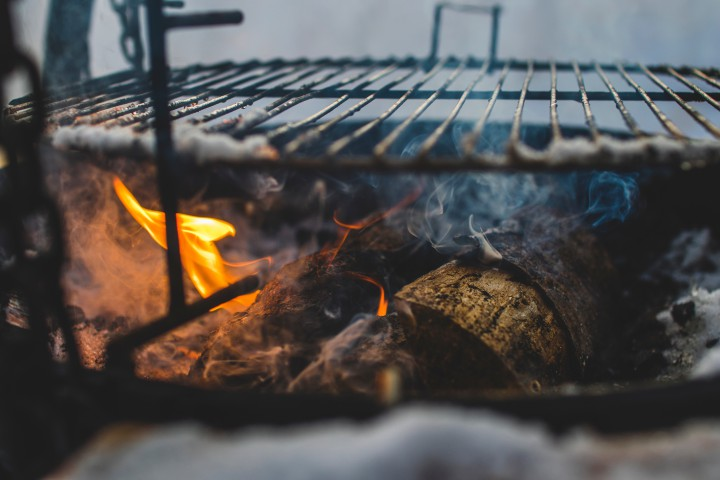 Outdoor cooking, a party